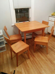 Square Table Set with 4 Chairs - Will Deliver
