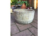2 solid stone garden planters by Sandford stone