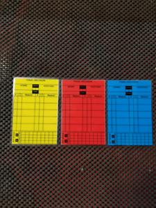 Laminated Soccer Referee Cards