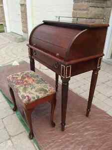 Small Roll Top Desk & Stool