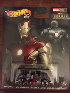Hot Wheels Marvel Studios VW Deluxe Wagon Iron Man
