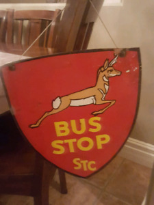 Rare STC bus sign