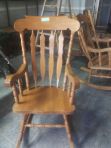 SOLID HARDWOOD  ROCKING CHAIRS {2]