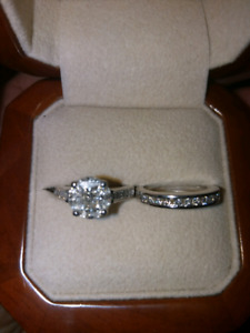 Ladies 1.44ct Diamond Engagement Ring Set