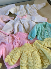 Traditional knitted baby clothes