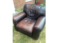 Big comfy leather chair