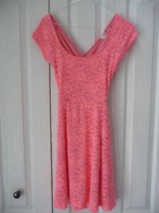 Garage cute coral pinkish dress XS.