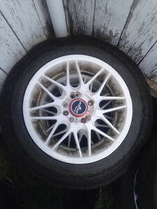 4-5X114.3 16inch Sparco rims and tires