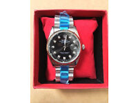 Rolex Datejust Black, Automatic Watch, Metal Strap *1st Class Postage Available*