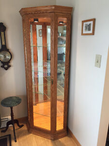 Moving Sale: Two Oak China Cabinets