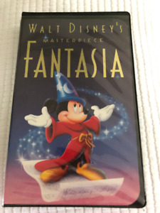 VHS DISNEY TAPES WIZARD of OZ and FANTASIA