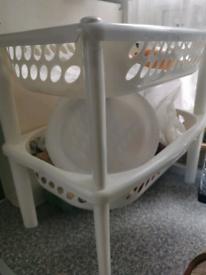 Fruit basket white plastic