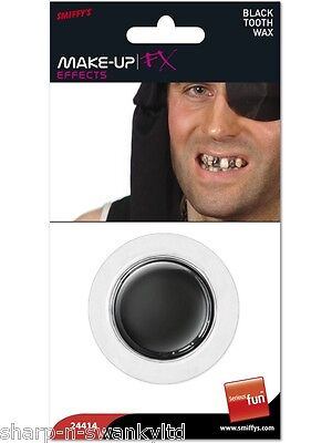 Mens Ladies Pirate Party Make Up Black Tooth Wax Fancy Dress Costume Accessory - Lady Pirate Makeup