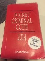 Pocket criminal code (police foundations or law courses)