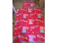 Peppa Pig cotbed duvet cover and pillow case