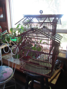 VINTAGE BAMBOO BIRD CAGE