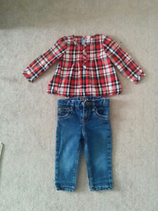 Baby Gap jeans and shirt