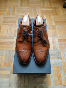 Allen Edmonds Walnut Leiden Wingtip Oxfords 6.5E