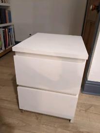 IKEA malm bedside drawer unit White