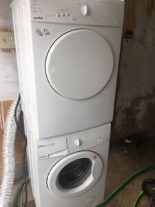 """Apartment Size Moffat 24"""" stackable frontload washer & dryer"""