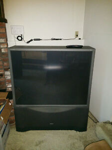 "FREE RCA MM52110 52"" rear projection TV"