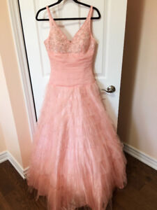 Pink colour high end evening gown