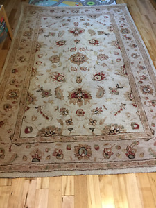 100% large wool area rug 5x8
