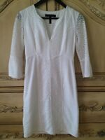 BCBG WHITE-LACE DRESS