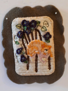Needle Felted/Embroidered  Wall Hanging