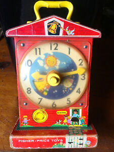 Vintage 1960s Fisher Price  Teaching Clock -REDUCED PRICE!