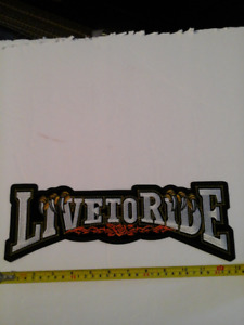 Live To Ride XL Patch