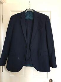 Navy blue two piece suit