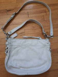 Cream Leather Coach purse