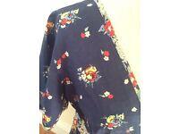 casual Oasis blue floral 100% cotton dress 14