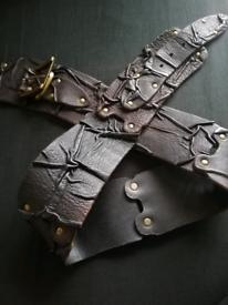 Genuine leather hip belt