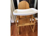 Kids high chair and table2in1
