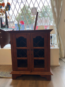 * Unique Solid Wood * WINE CABINET (rosewood)