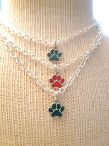 Pet lowers paw necklaces
