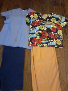 Scrub Suits 2set for $ 35.00 plus free pant Size S