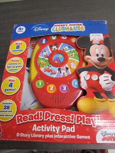 Mickey Mouse Clubhouse Read,Press,Play Activity Pad, NEW