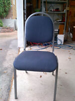 Set of 4 blue stackable chairs.. heavy duty ones