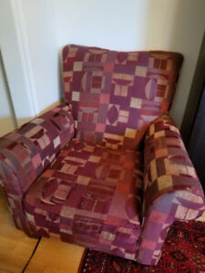 Selling Furniture- Chair and Ottomon