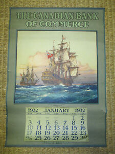 1932 Canadian Bank of Commerce Calendar