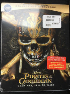 Limited Edition Steel Book  Pirates of Caribbean  Dead Men Tell