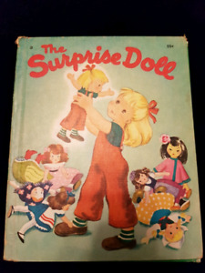 """Vintage """"The Surprise Doll"""" Young Children's book--1949"""