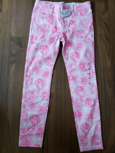 Girls size 10 Rose White Woven Jeggings NWT
