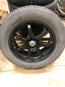 Set of 4 Winter Tires (225/55R18) on rims