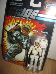 GI JOE 25TH ANNIVERSARY 3'75  ARCTIC TROOPER SNOW JOB FIGURE MOC