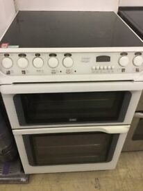 Creda white Cooker with double electric Oven.