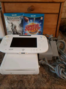 Nintendo Wii U System With Wii U Pad And 3 Games!
